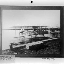 Image of PHOTOGRAPH, BURGESS CO. FLYING MACHINE AT PALM BEACH, BURGESS - CURTIS CO.