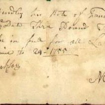 Image of RECEIPT, BENJAMIN HENDLEY, NATHAN SETTON - HANDWRITTEN RECEIPT, BENJAMIN HENDLEY, NATHAN SETTON, FOR LABOR