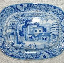 Image of TUREEN STAND - ENGLISH STAFFORDSHIRE PEARLWARE STAND.  TRANSFER PRINTED IN �