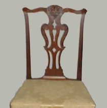 Image of CHAIR, YELLOW DAMASK