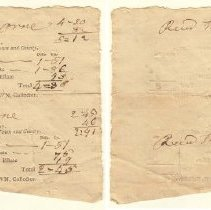Image of BILL, STATE, COUNTY & TOWN, JONATHAN & JOHN ORNE FROM HENRY LEECH, TAX COLLECTOR - PREPRINTED STATE, COUNTY & TOWN TAX BILL WITH HANDWRITTEN ENTRIES.