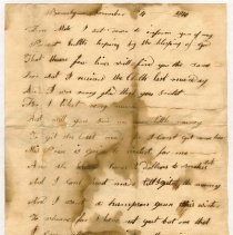 Image of LETTER, SALLY WOODBURY TO AUNT MARY ORNE REQUESTING MATERIALS - HANDWRITTEN LETTER.