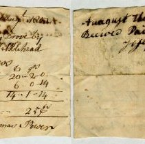 Image of RECEIPT, JOSEPH DERRY TO ORNE, HAY, WEIGHED BY THOMAS POWER - HANDWRITTEN RECEIPT.