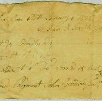 Image of RECEIPT, JOHN & JOSEPH GOODWIN TO JOHN ORNE FOR CANDLES - HANDWRITTEN RECEIPT.