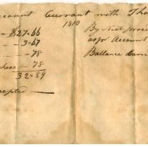 Image of RECEIPT, THOMAS GORDON TO JOHN ORNE, 65 GALLONS OF MOLASSES, PARTIALLY PAID FOR WITH 9.5 QUINTALS OF FISH - HANDWRITTEN RECEIPT.