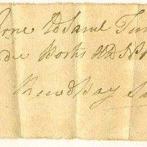 Image of RECEIPT, SAMUEL TURNER TO JOHN ORNE FOR CEDAR POSTS - HANDWRITTEN RECEIPT.