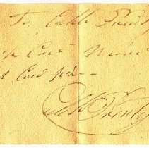 Image of RECEIPT, CALEB PRENTISS TO JOHN ORNE FOR CORD WOOD - HANDWRITTEN RECEIPT.