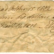 Image of RECEIPT, DR. ELISHA STORY FOR BIRTH OF JOHN ORNE'S CHILD - HANDWRITTEN RECEIPT.