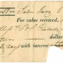 Image of NOTE, PROMISSORY