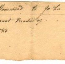 Image of RECEIPT, THOMAS HAMMOND TO JOHN ORNE  - HANDWRITTEN RECEIPT.