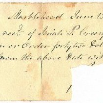 Image of NOTE, JOHN ORNE  TO PAY JOSIAH CREESY  - HANDWRITTEN PROMISSORY NOTE.