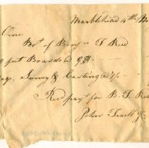 Image of RECEIPT, JOHN TRAILL TO JOHN ORNE FOR 1730 FT BOARDS - HANDWRITTEN RECEIPT.