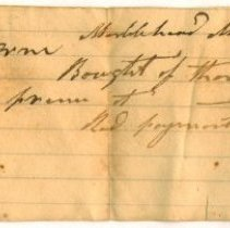 Image of RECEIPT, THOMAS APPLETON TO A. & B. ORNE FOR BARN  - HANDWRITTEN RECEIPT.