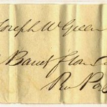 Image of RECEIPT, JOS. W. GREEN TO JOHN ORNE, 2 BBL. FLOUR - HANDWRITTEN RECEIPT.