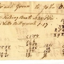 Image of INVOICE, PORTER & GREEN FOR FISHING BOOTS & BILL OF WORK - HANDWRITTEN INVOICE.