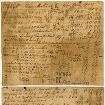 Image of ACCOUNT, PAYMENTS & GOODS RECEIVED BY EMPLOYEE THOMAS MARTIN FROM JOHN ORNE - HANDWRITTEN ACCOUNTING.