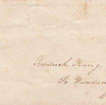 Image of Frederick King envelope