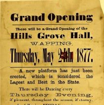 Image of Hills Grove dance hall poster