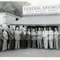 Image of East Hartford Savings Bank South Windsor Branch opening May 21, 1959
