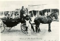 Image of men in a carriage on Concho Ave. 1895