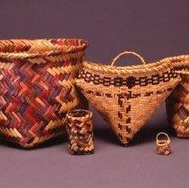 Image of Native American Baskets - Miniature Storage Basket or Wastebasket