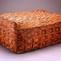 Image of Native American Baskets - Lidded Splint Basket
