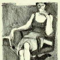 Image of American Art - Seated Woman Drinking from a Cup