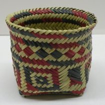 Image of Native American Baskets - Double-weave basket