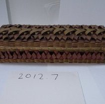 Image of Native American Baskets - Rectangular Box with Lid, c. 1980