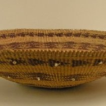 Image of Native American Baskets - Partly Feathered Shallow Bowl