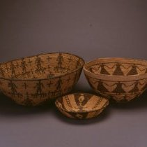 Image of Native American Baskets - Tray with Plants and Ladders
