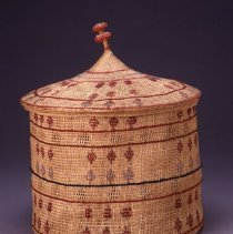 Image of Native American Baskets - Covered Basket