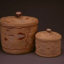 Image of Native American Baskets - Floral Treasure Basket