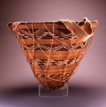 Image of Native American Baskets - Burden Basket with Net