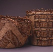 Image of Native American Baskets - Twined Cylindrical Basket