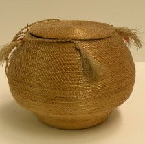 Image of Catherine Marshall Gardiner Basketry Collection - Trinket Basket with Hinged Cover