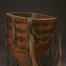 Image of Native American Baskets - Painted and Tasseled Burden Basket