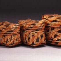 Image of Native American Baskets - Lidded Double-Weave Storage Basket