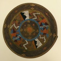 Image of Catherine Marshall Gardiner Basketry Collection - Coiled Tray with Beading