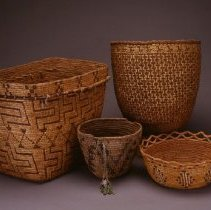 Image of Native American Baskets - Flared Basket with Helldiver Pattern