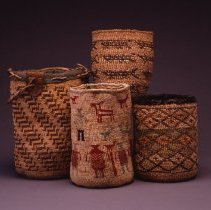 Image of Native American Baskets - Aqw'alkt (Twined Root-Digging Bag)
