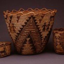 Image of Native American Baskets - Xlaam (Coiled Cedar Root Basket) or Gathering Basket