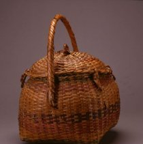 Image of Native American Baskets - Carrying Basket with Hinged Lid