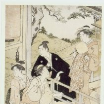 Image of Japanese Prints - Group of Women and a Man at a Tea House