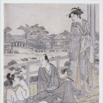 Image of Japanese Prints - On The Veranda of a Teahouse
