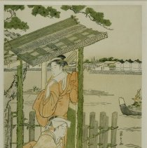 Image of Japanese Prints - Two Young Women at a Boat Landing