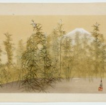 Image of Japanese Prints - Fuji seen from a hemp field