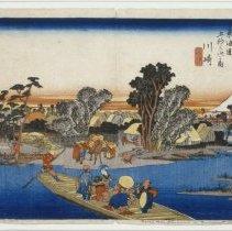 Image of Japanese Prints - Kawasaki Rokugo Tosen (Station #3: Ferry across the Rokugo River)