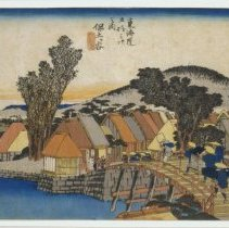 Image of Japanese Prints - Hodogaya shin Kame bashi (Station #5: Hodogaya, the New Kame bridge)