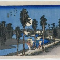 Image of Japanese Prints - Numadzu Ki Kure (Station #13: Numadzu, a yellow evening)
